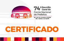 74ª Reunião Geral da FNP - Certificado