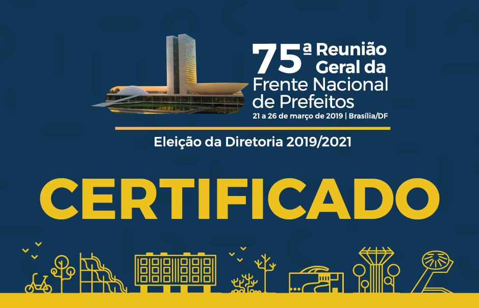 75 RG - Certificado