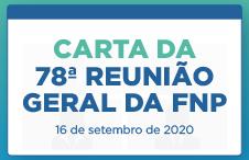 Carta da 78ª Reunião Geral da FNP