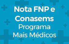 Nota FNP e Conasems - Programa Mais Médico