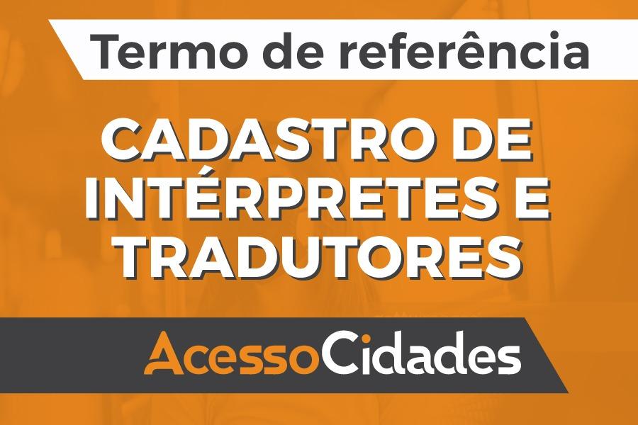 TdR AcessoCidades Intérpretes
